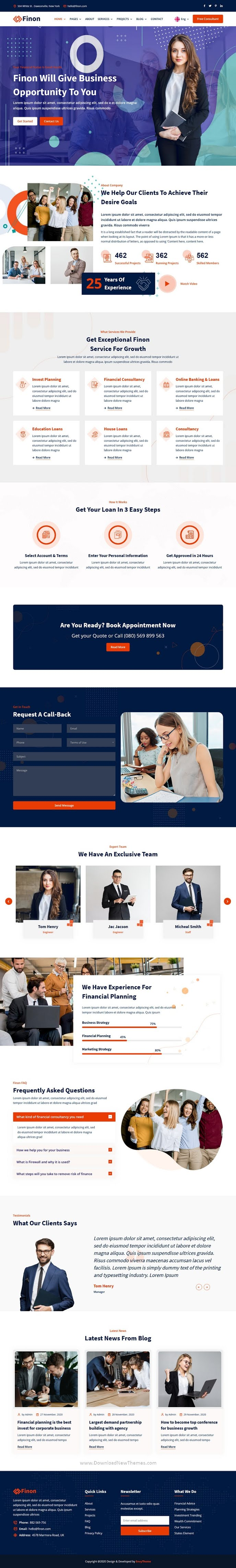 Finance & Investment HTML Template