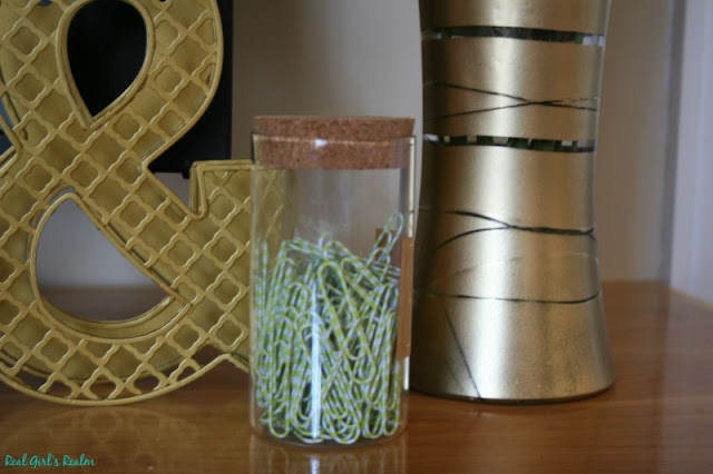 Here is what you need to make a geometric vase to brighten up your work space, bedroom, or kitchen counter!
