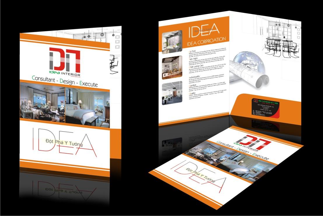 Thiết kế kẹp file công ty đẹp - In kẹp file tài liệu giá rẻ, chuyên nghiệp tại Hà Nội IDEA