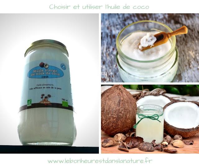 Choisir et utiliser l'huile de coco