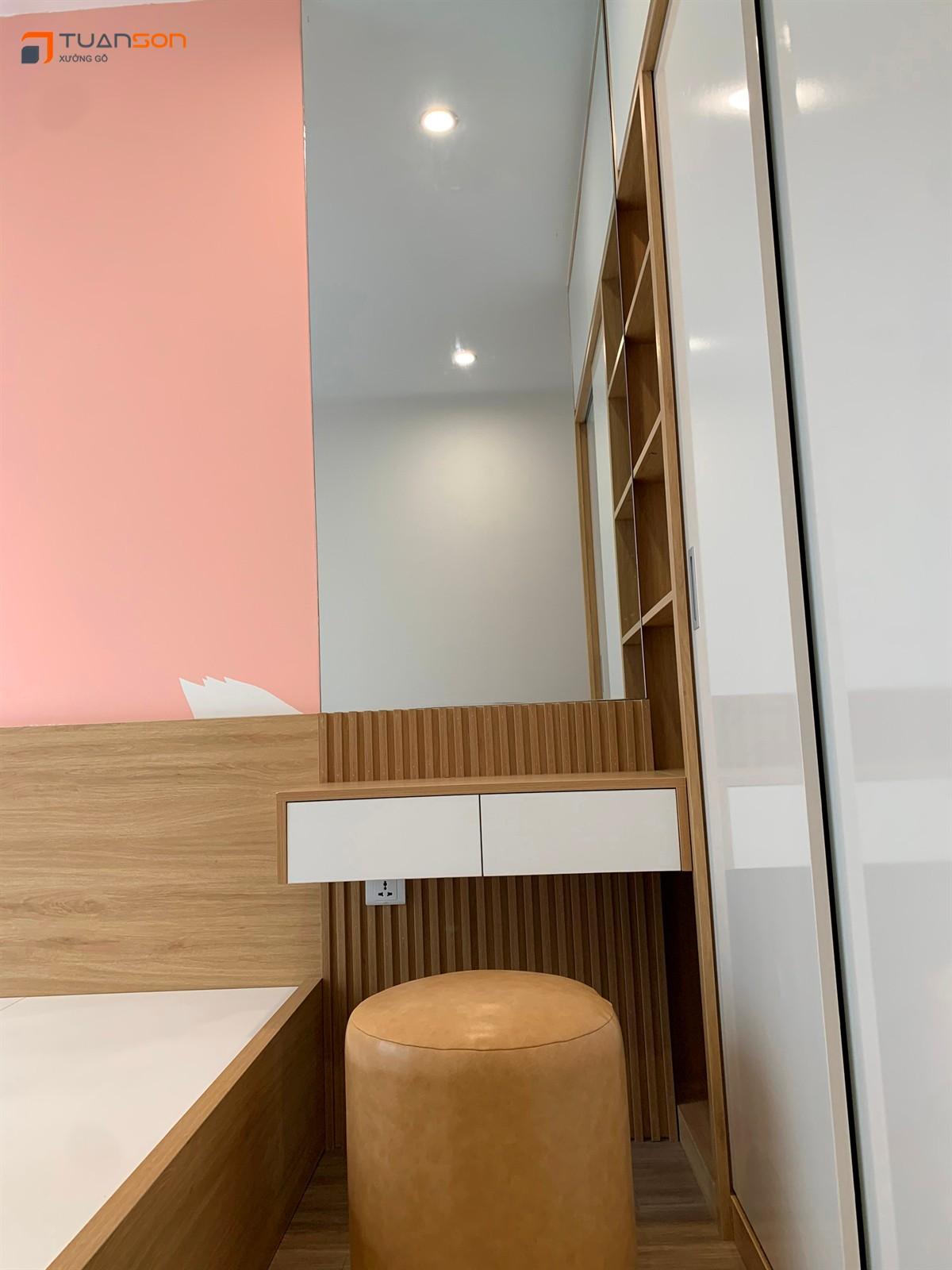 Bàn giao công trình thi công nội thất 43m2 (1PN+1) S1.03-12 Vinhomes OCean Park