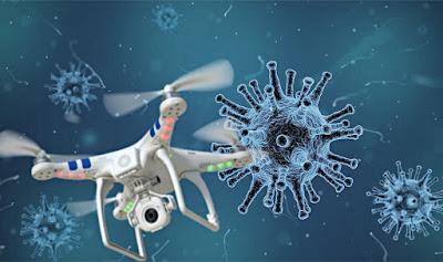 طائرة وبائية بدون طيار drone للكشف عن مصابي فيروس كورونا Covid-19