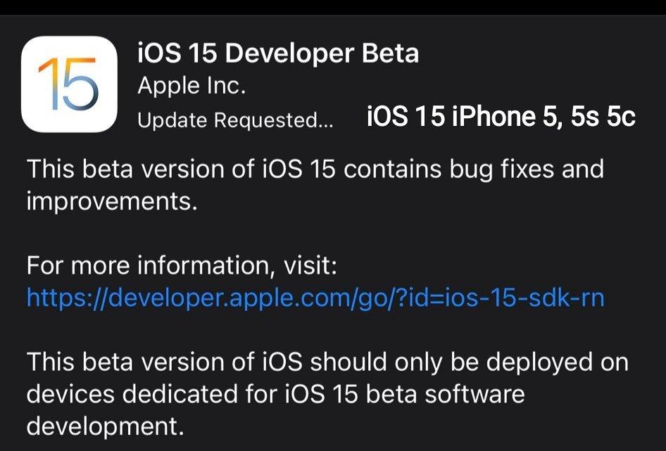 cara update ios 15 iphone 5 5s 5c