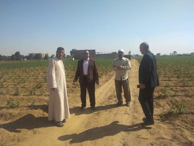 وكيل زراعة الفيوم اللقاء الأسبوعي لتوعية المزارعين في الحقول