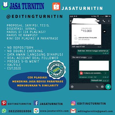 Jasa Cek Plagiarisme Turnitin Online Tercepat Di Nusa Tenggara Barat
