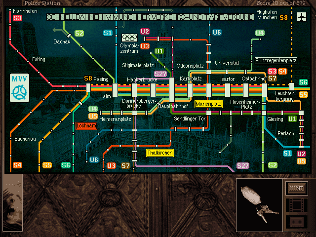 Gabriel Knight 2 Beast Within U-Bahn map
