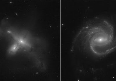 Hubble Releases Images of Rarely Observed Colliding Galaxies