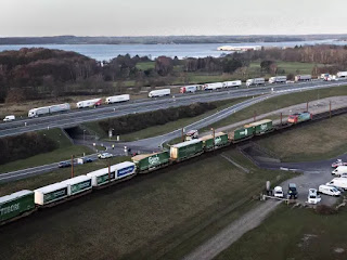Train accident on bridge linking two of Denmark's islands saw six people killed