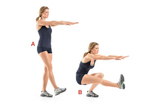 Single Leg Squat for Buttocks Enlargement