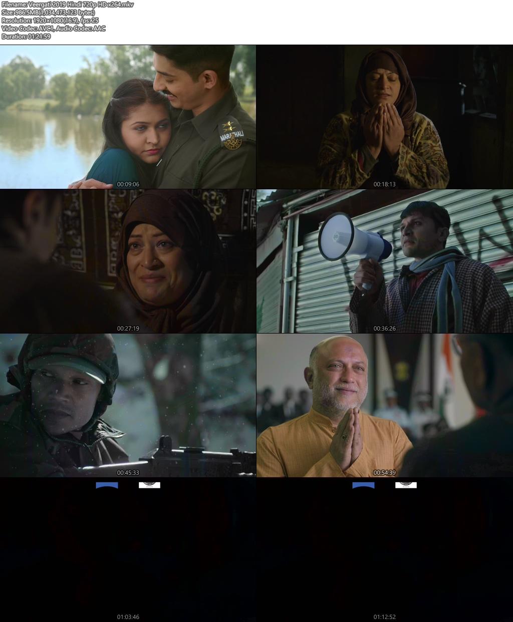 Veergati 2019 Hindi 720p HD x264   480p 300MB   100MB HEVC Screenshot