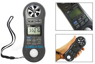 Darmatek Jual Lutron LM-8010 Anemometer, Humidity, Light Meter, Type K Thermometer
