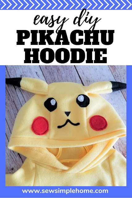 Make your own DIY Pikachu costume with this template and free sewing tutorial.