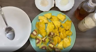 Cara membuat sinbiotik dari buah nanas dan kiwi