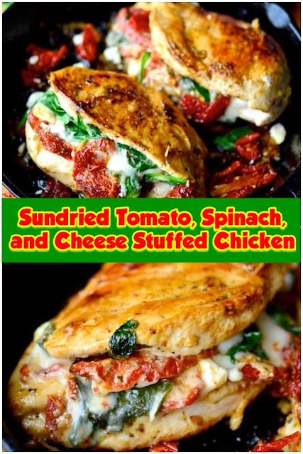 #Sundried #Tomato #Spinach #and #Cheese #Stuffed #Chicken