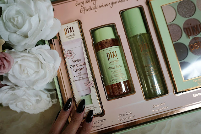 the Pixi Beauty Rose Ceramide cream and the Glow Tonic