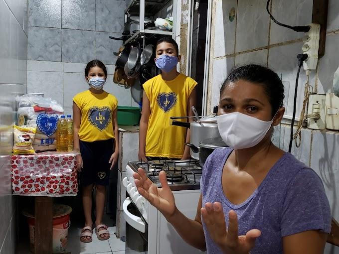 Para celebrar o mês da Família, LBV assiste famílias em vulnerabilidade social do Recife com 4 toneladas em alimentos