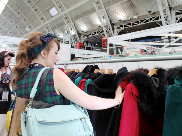 CiCi Marie on the Collectif stand at London Edge