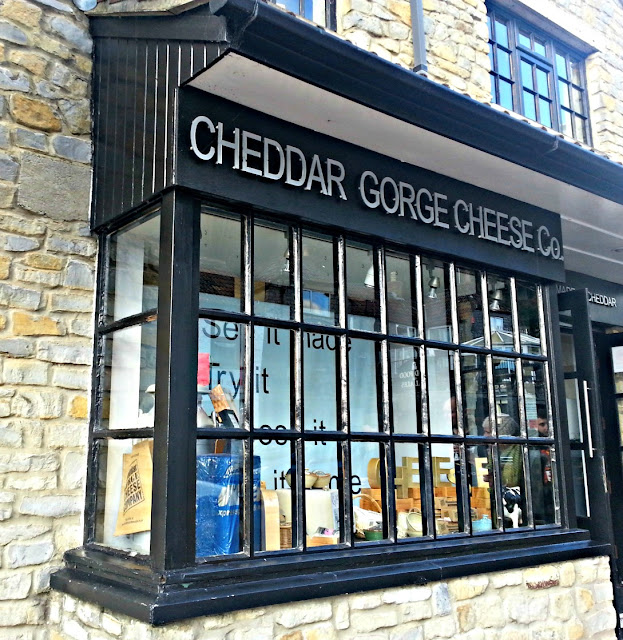 Exterior frontage of the Cheddar Gorge Cheese Shop