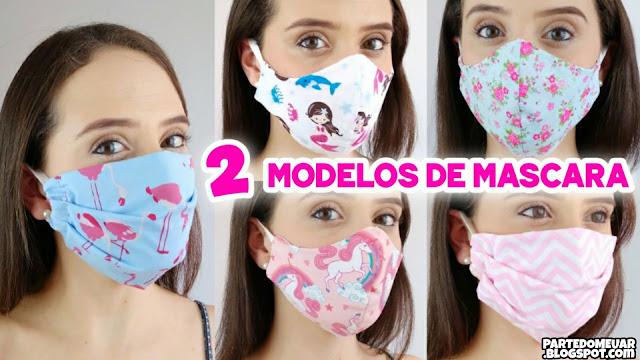 como fazer mascara tecido
