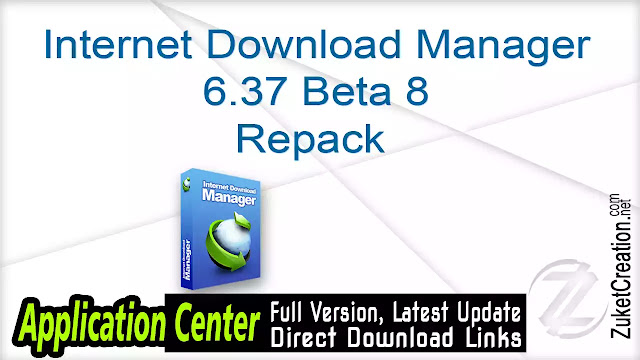 Internet Download Manager 6.37 Beta 8 Repack