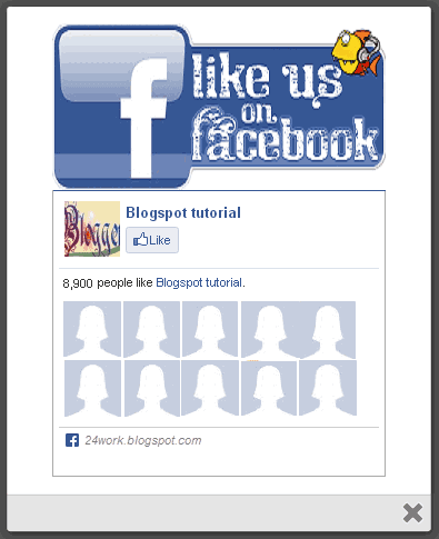 Add jQuery LIGHTBOX Popup Facebook Likebox