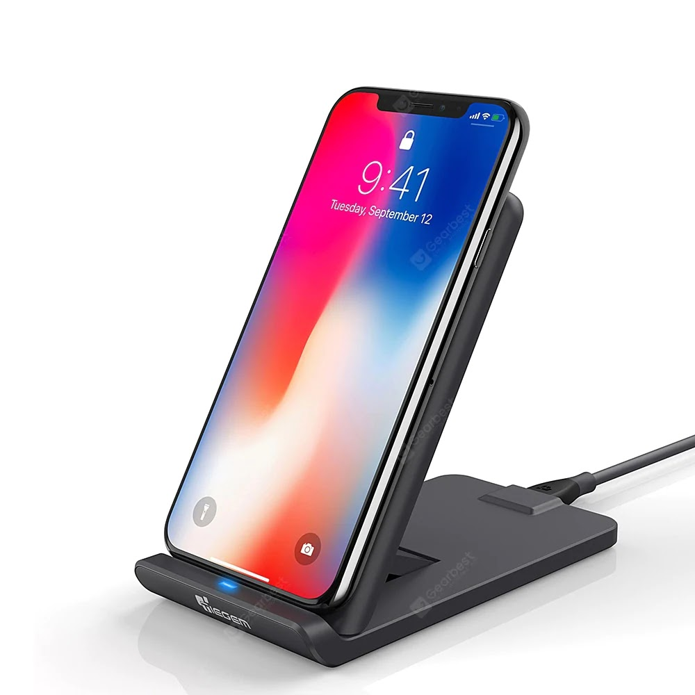 TIEGEM 10W Wireless Charger with 3 coil charging for all Qi-enabled device