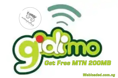 Download Gidimo App And Get Free MTN 200MB Data