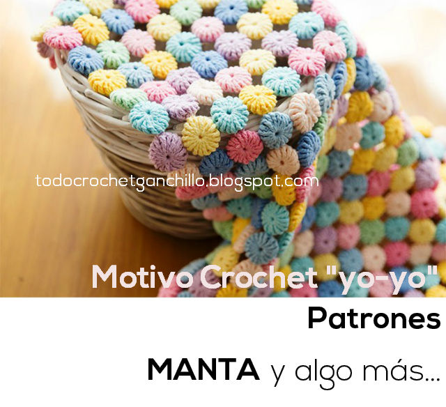 Manta con punto yo-yo al crochet / Video tutorial | Crochet y Dos ...
