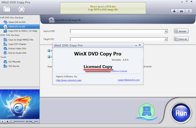 WinX DVD Copy Pro Licensed