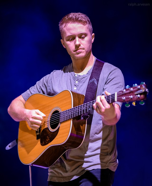 Corey Kent performing at the Whitewater Music Amphitheater in New Braunfels, Texas