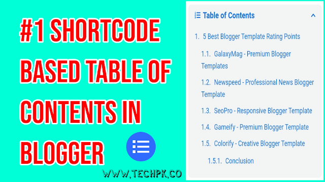 Table of Contents in Blogger 2021