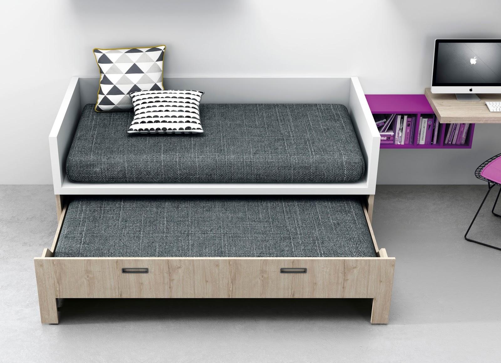 Camas compacto juveniles de igual medida la cama de arriba for Camas gemelas juveniles