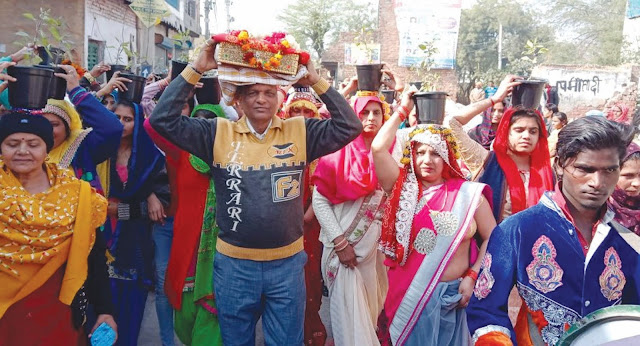 Kalash Yatra on the launch of Srimad Bhagwat Week organized by Guy Human Services Trust