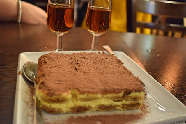 Italian wine tasting at Veeno Leeds - Tagos with tiramisu