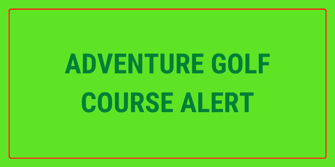 There are plans for a new adventure golf course in Perth, Scotland