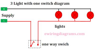 multiple light wiring diagram