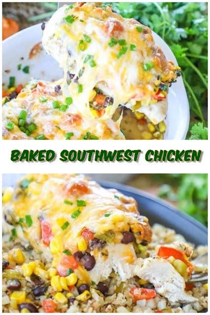 #Baked #Southwest #Chicken #crockpotrecipes #chickenbreastrecipes #easychickenrecipes #souprecipes
