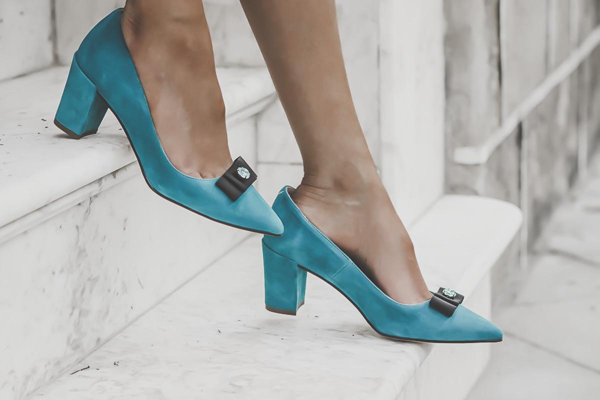 ROBERT VETUSTA - zapatos terciiopelo azul