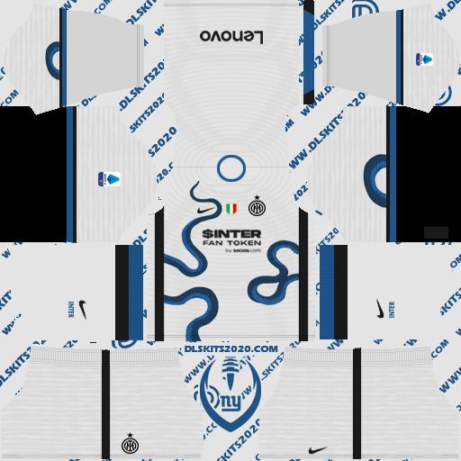 inter milan Kits 2021-2022 nike - Dream League Soccer 19 Kits (away)