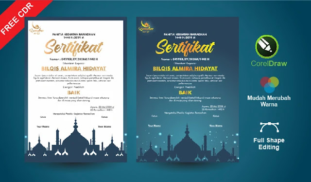 Sertifikat Ramadhan CorelDraw Gratis