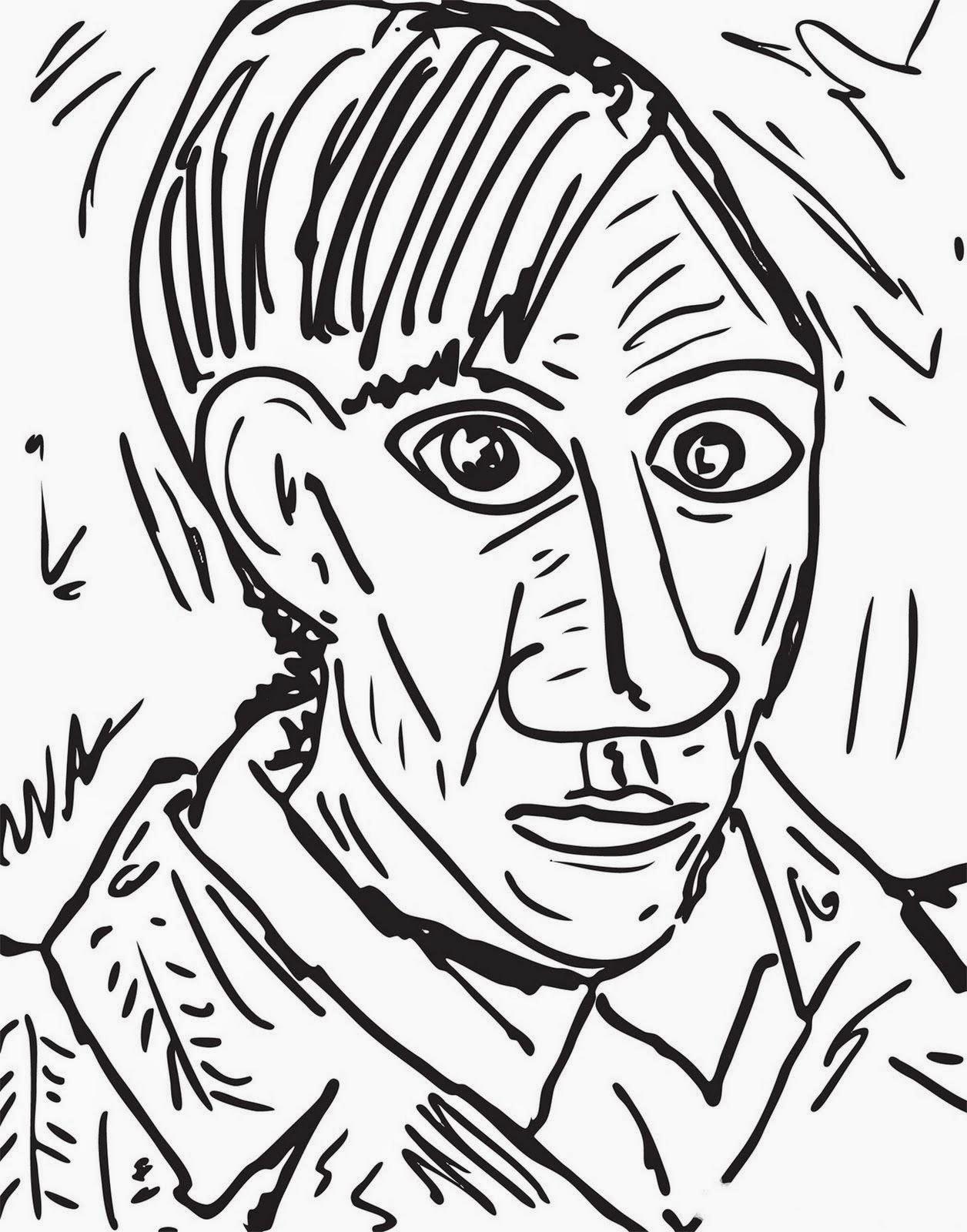 Pintores Famosos Pablo Picasso Para Ninos Cuadros Para Colorear Caricaturas Y Fotos De