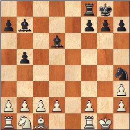 Partida de ajedrez Esteve Puig i Puig - José María Baquero Vidal (1905), posición después de 16...Ch4