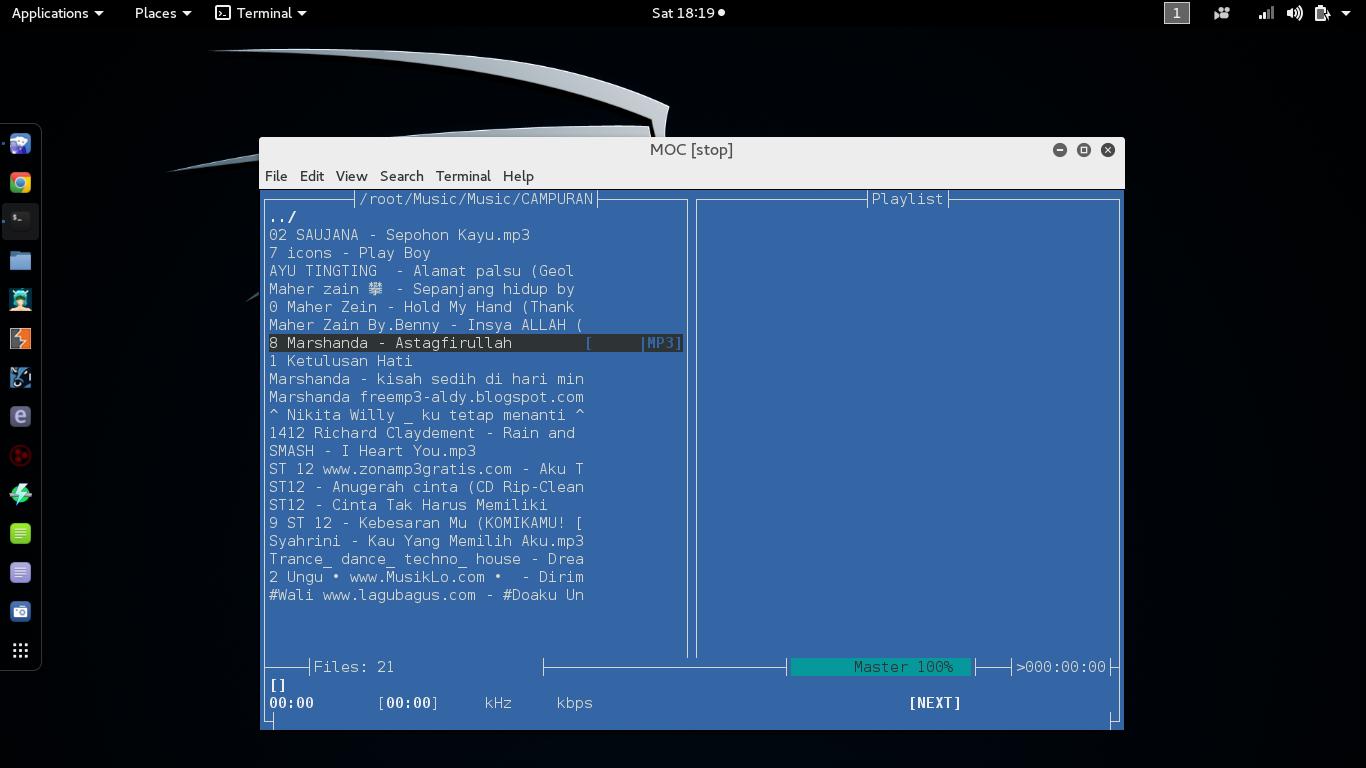 Cara Memutar Musik Melalui Terminal Di Kali Linux Onepoin Co Id