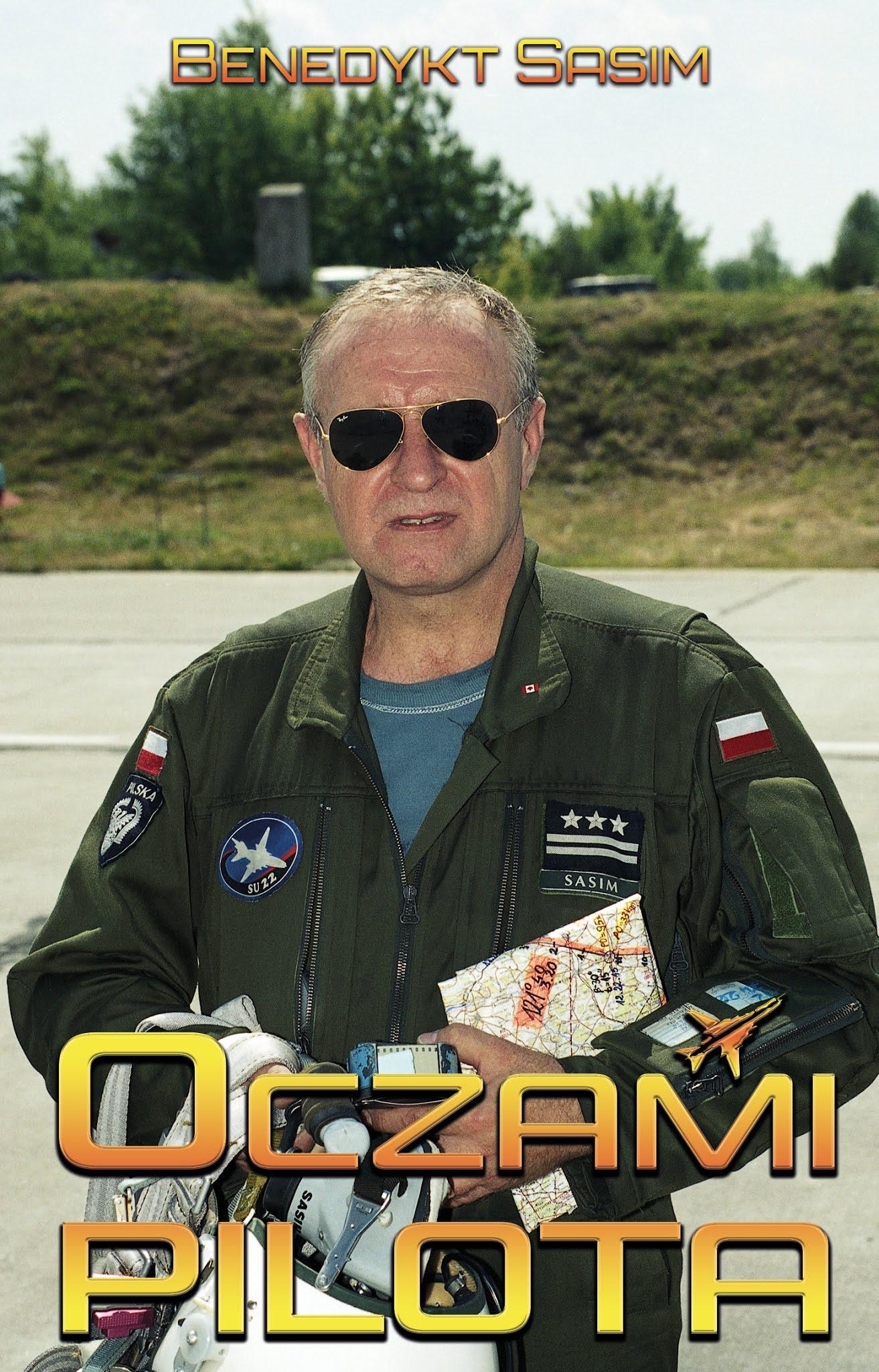 Oczami pilota - Benedykt Sasim książka okładka przód