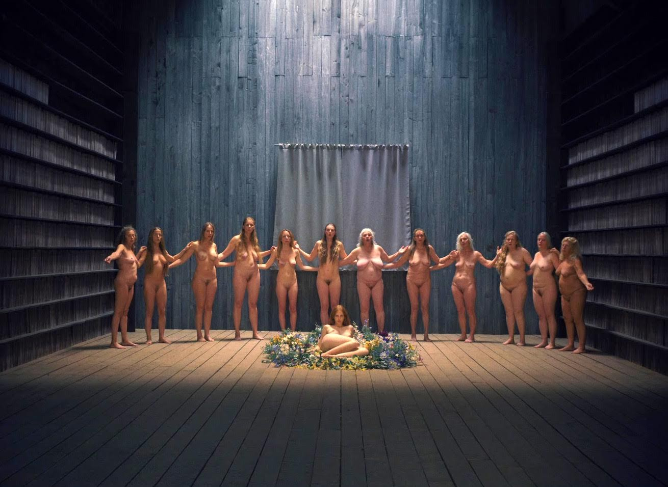 Naked female weight lifters