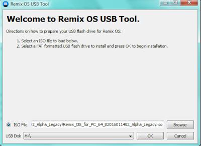 Remix OS USB Tool