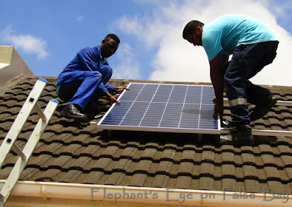 First photovoltaic panel installed in January