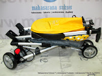 lipat CocoLatte CL08 iSport W4YK Polkadot Yellow Baby Stroller