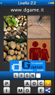 Trova la Parola - Foto Quiz con 4 Immagini e 1 Parola pacchetto 1 soluzione livello 22