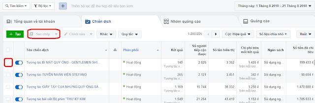Cách Tạo Nhanh Quảng Cáo Facebook Bằng Chức Năng Copy 1